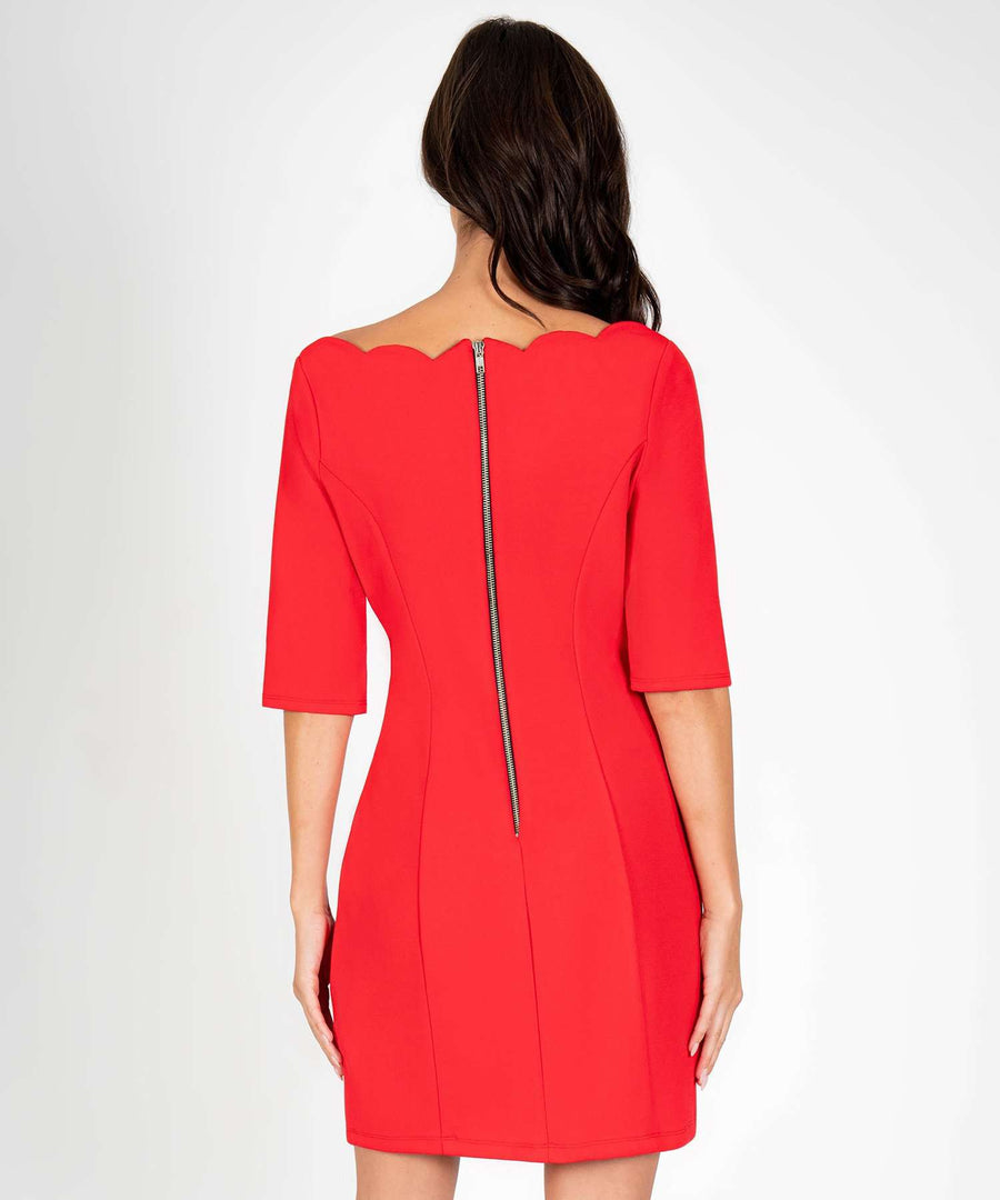 Charleston Scallop Bodycon Dress-New-Speechless.com