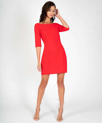 Charleston Scallop Bodycon Dress - Image 2