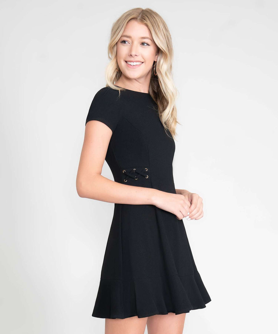 Tina Lace Up Dress-New-Speechless.com