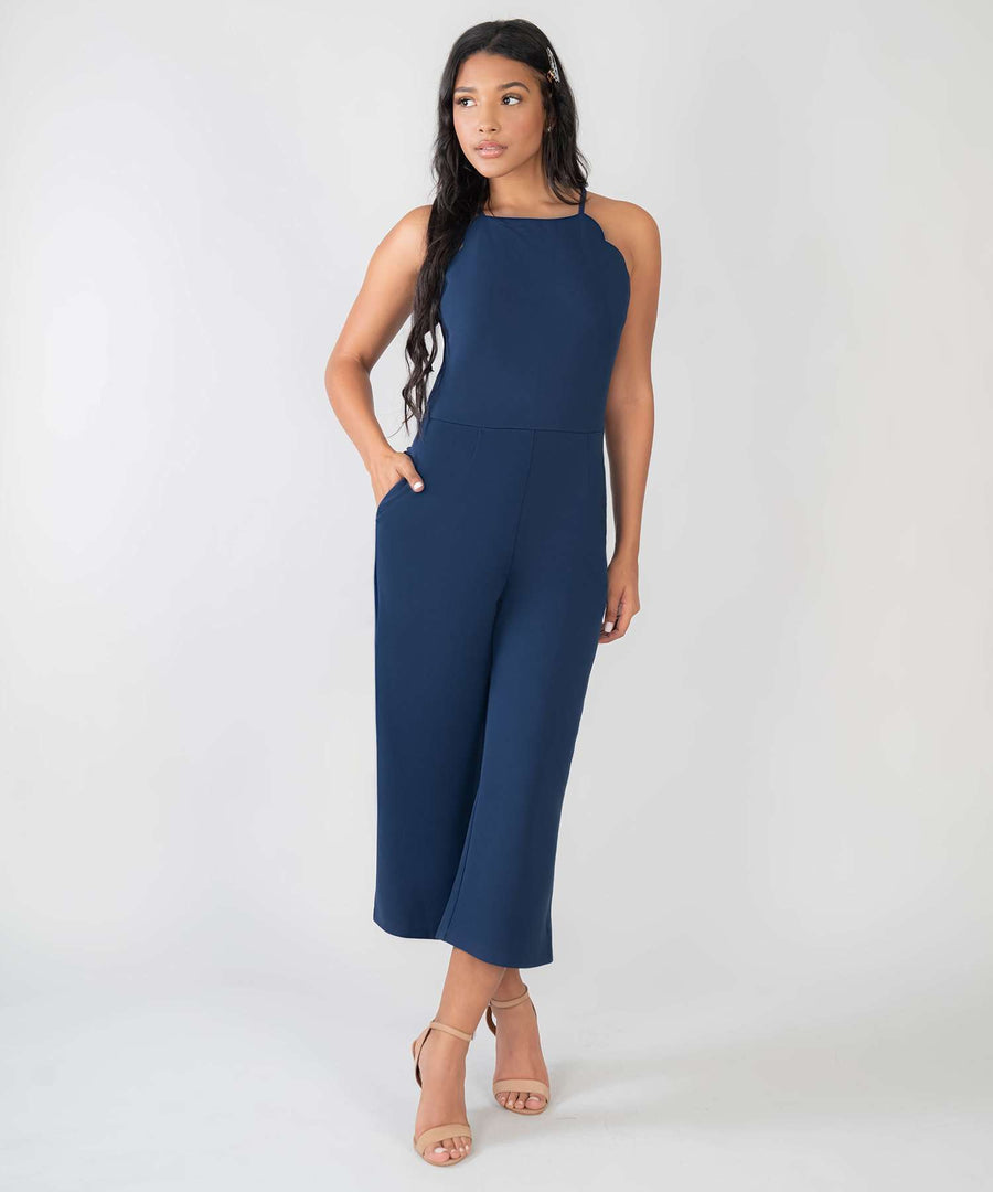 Back To Basics Jumpsuit-New-XX SMALL-Dark Blue-Speechless