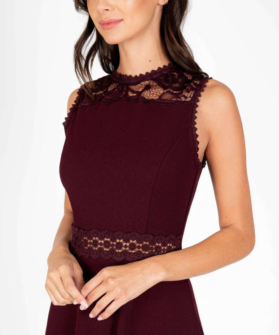 Kira Crochet Skater Dress-New-Speechless.com