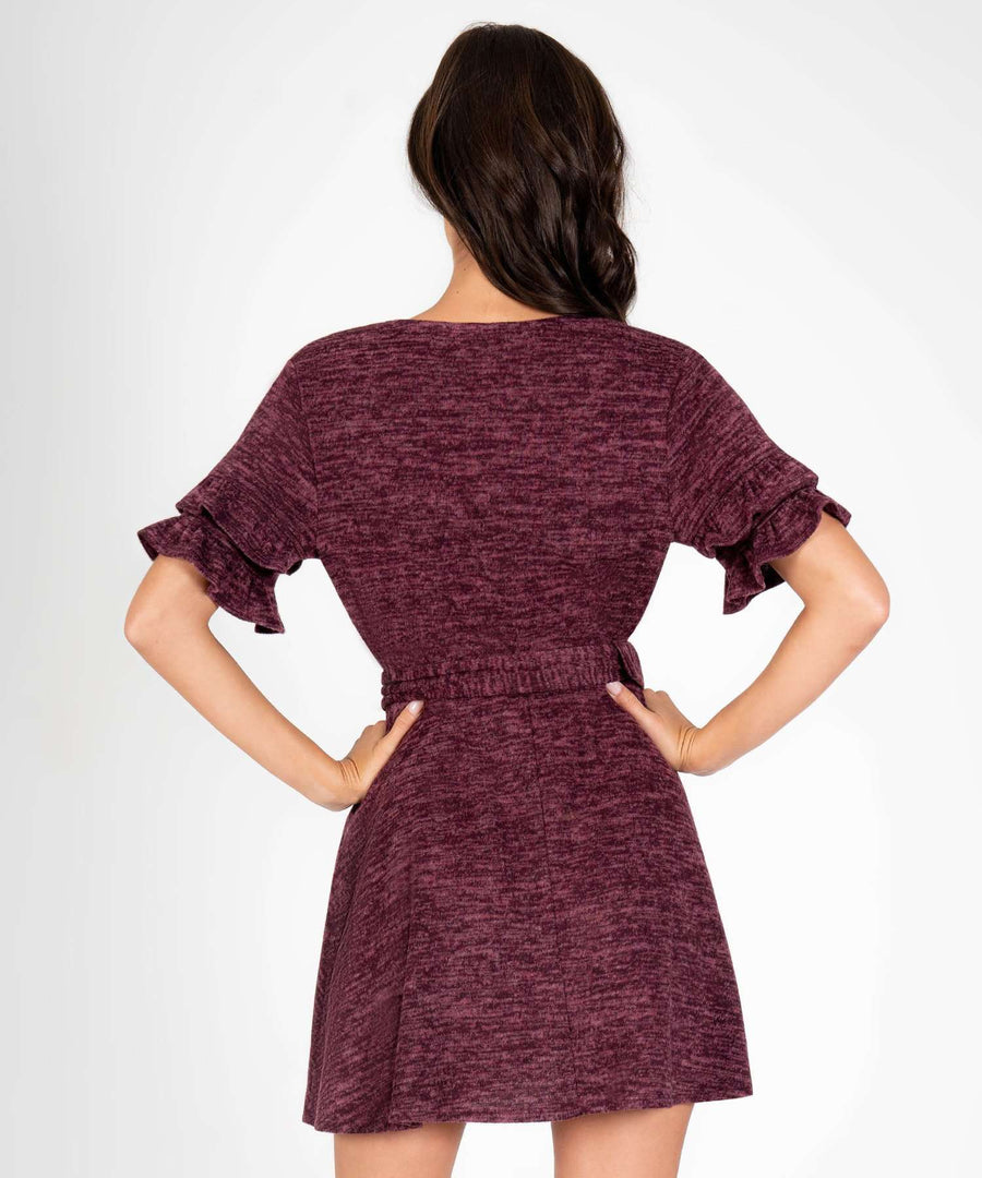 Chicago Ruffle Belted Dress-New-Speechless.com