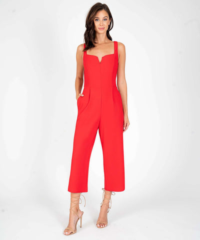 Nash V Wire Jumpsuit-Red-Speechless.com