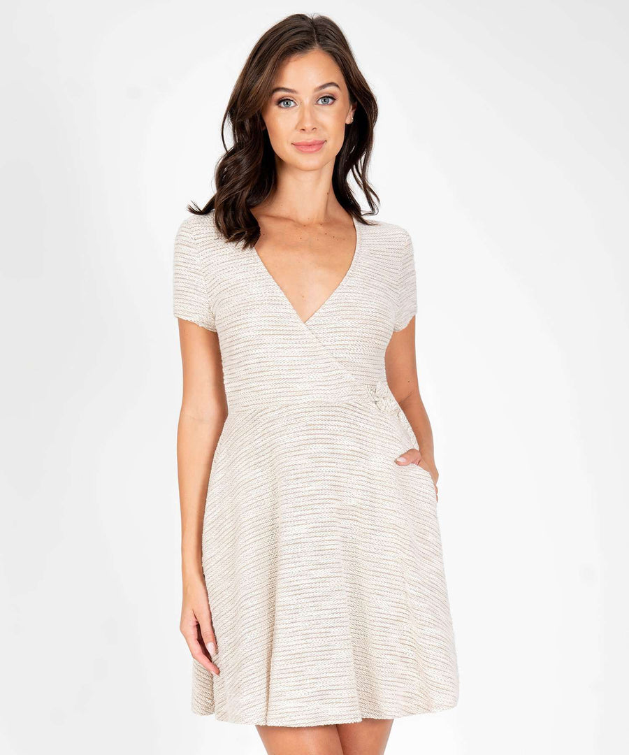 Knot Your Average Skater Dress-Casual Dresses-XX SMALL-Taupe-Speechless.com