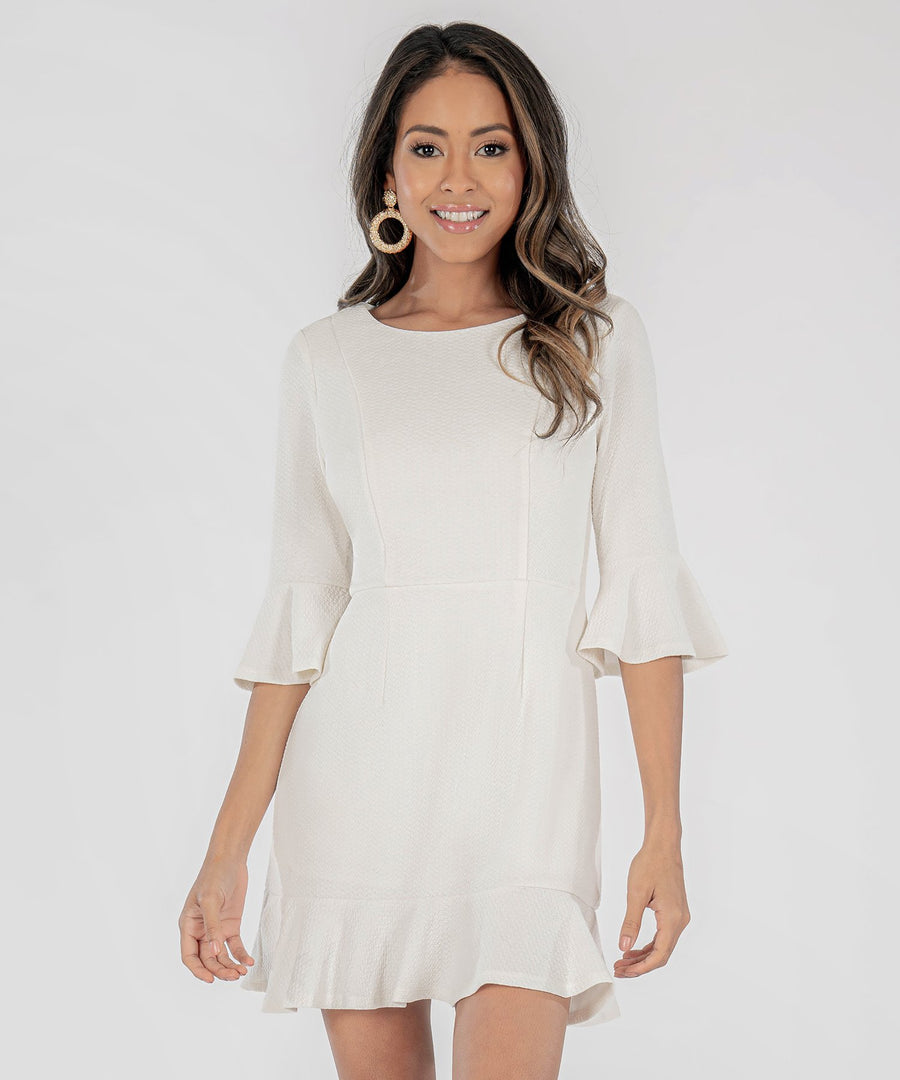 Sweet Sophistication Bell Sleeve Dress-Speechless.com