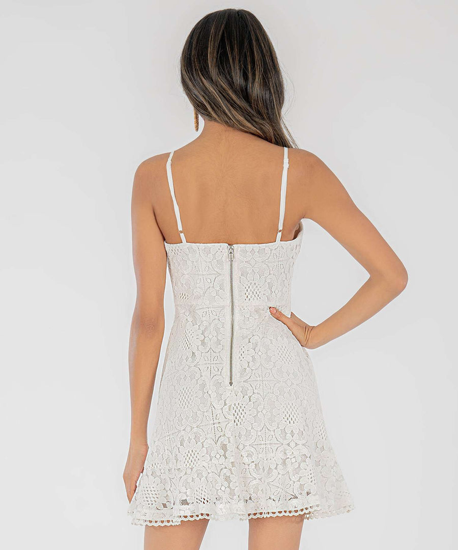 Daisi Lace Skater Dress-Casual Dresses-Speechless.com