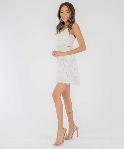 Daisi Lace Skater Dress - Image 2