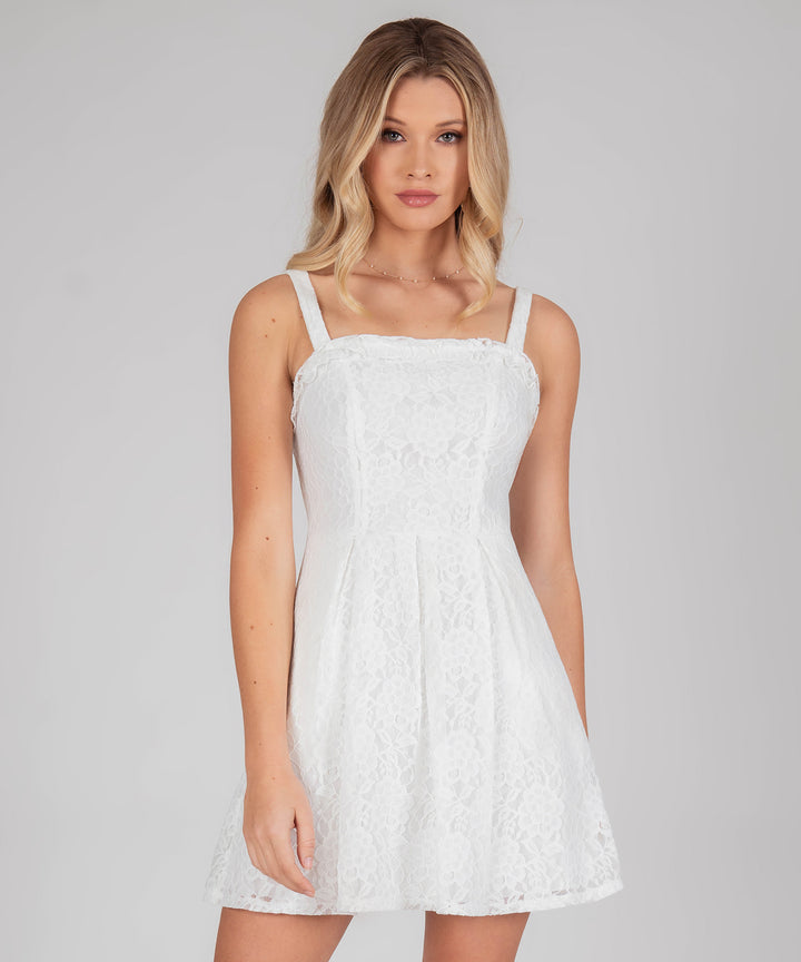 Sweet Escape Lace Bow Back Dress