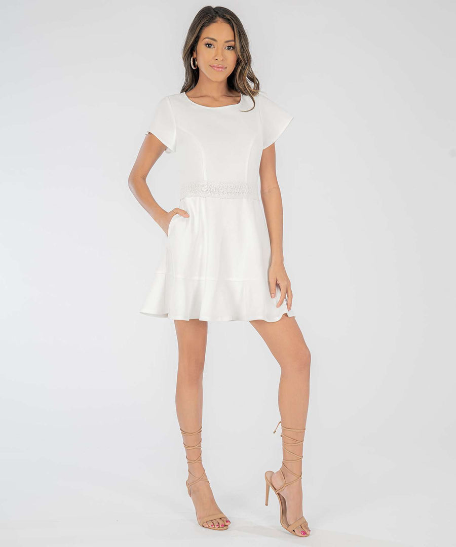 Don't Flutter Yourself Crochet Ruffle Dress-Dressy Dresses-Speechless.com