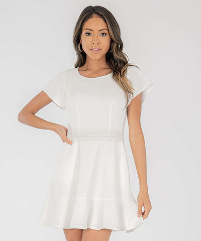 Don't Flutter Yourself Crochet Ruffle Dress