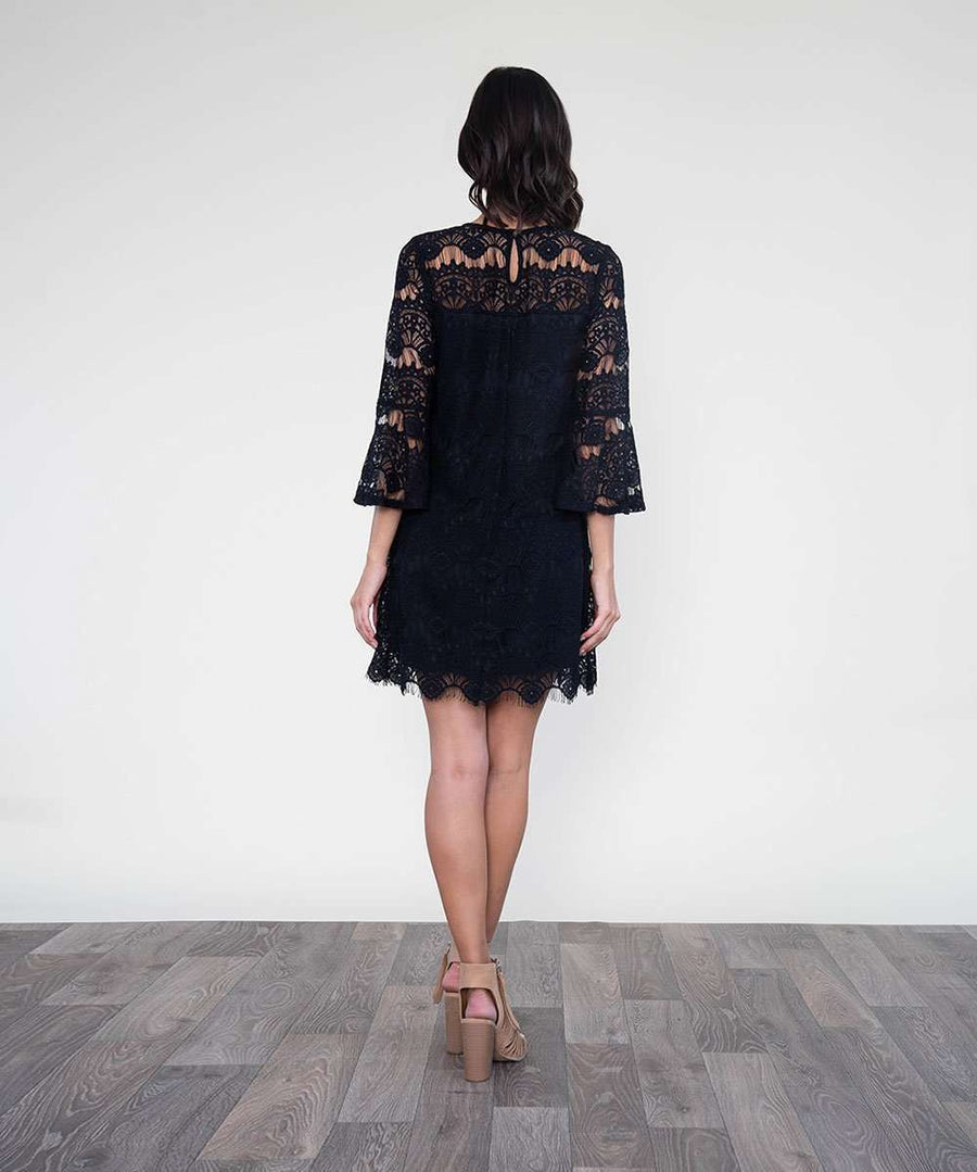 All Day Long Lace Dress-Dressy Dresses-Speechless