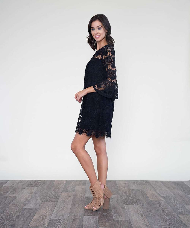 All Day Long Lace Dress-Speechless