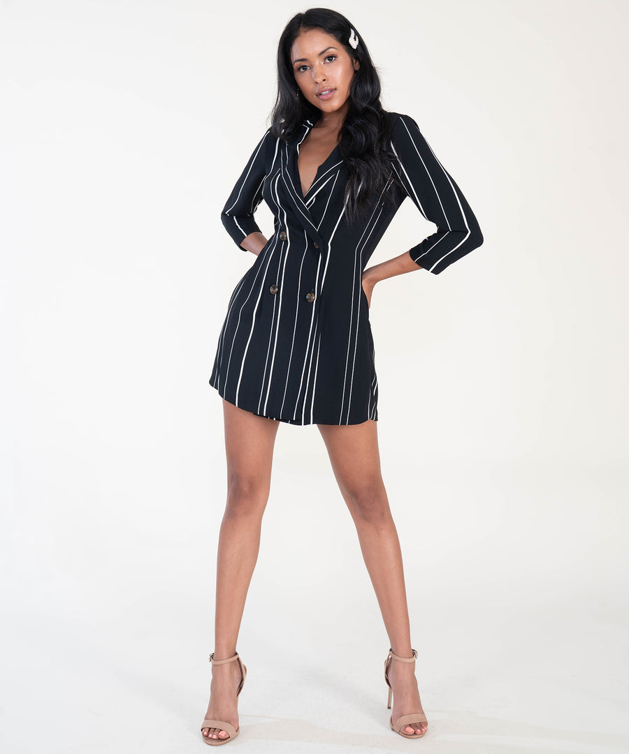 Suit Up Romper-Dressy Dresses-Speechless
