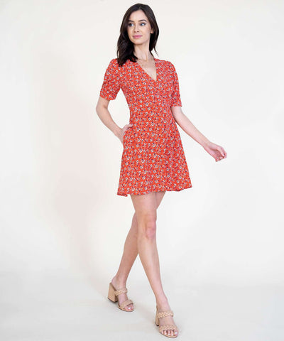 Kate Surplice Dress - Image 2