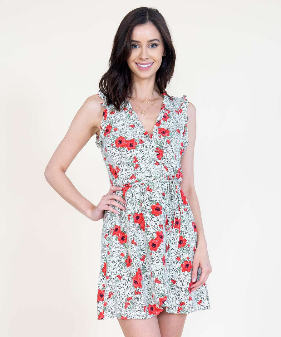 Right On Ruffle Wrap Dress-Casual Dresses-Speechless