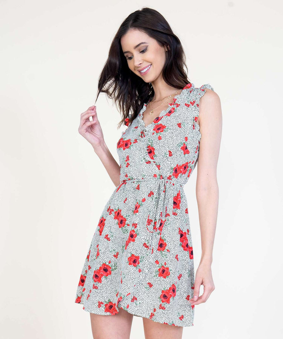 Right On Ruffle Wrap Dress-Speechless
