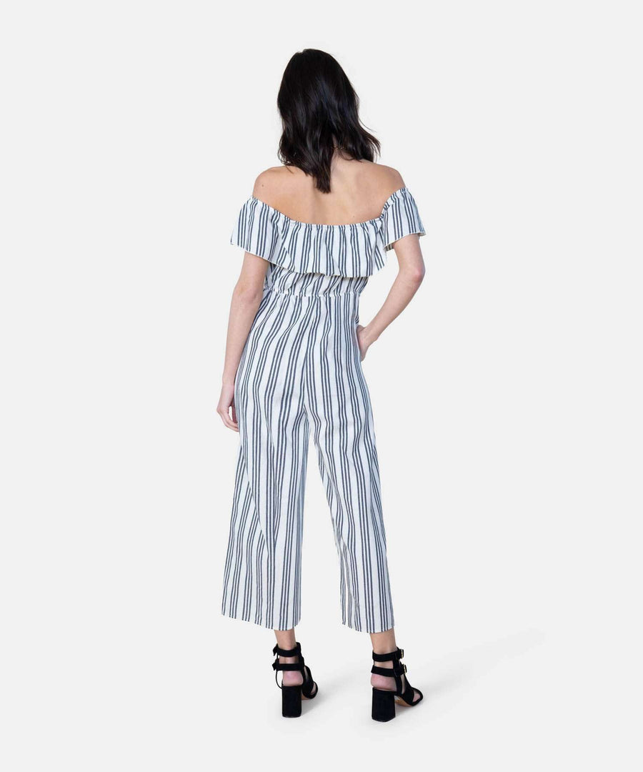 Presley Button Front Jumpsuit-Speechless