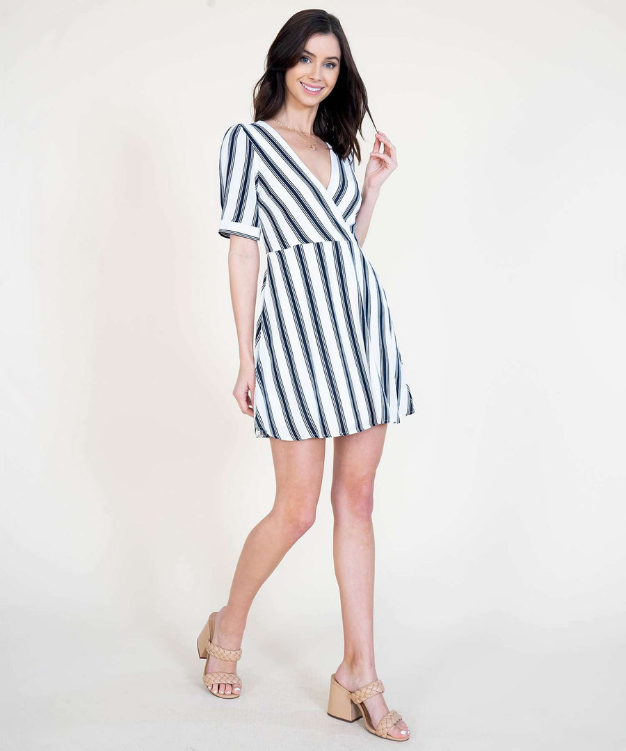 Kate Surplice Dress-Casual Dresses-Speechless
