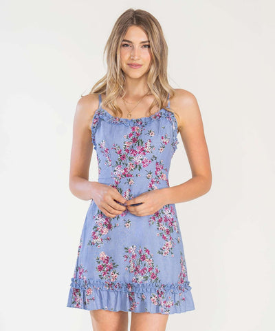 Blue Jean Baby Printed Ruffle Mini Dress - Image 2