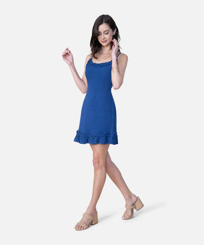 Blue Jean Baby Exclusive Ruffle Mini Dress-Casual Dresses-Speechless