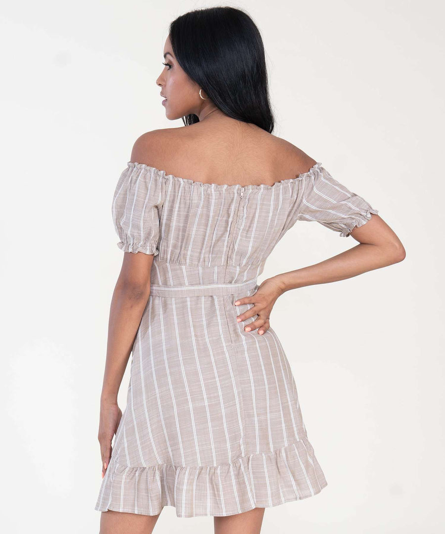 Olivia Off The Shoulder Dress-Casual Dresses-Speechless