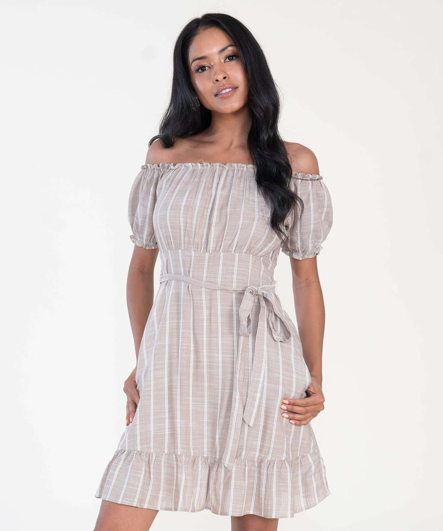 Olivia Off The Shoulder Dress-Speechless