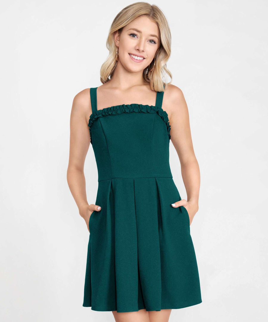 Sweet Escape Bow Back Dress-Casual Dresses-XX SMALL-Hunter Green-Speechless
