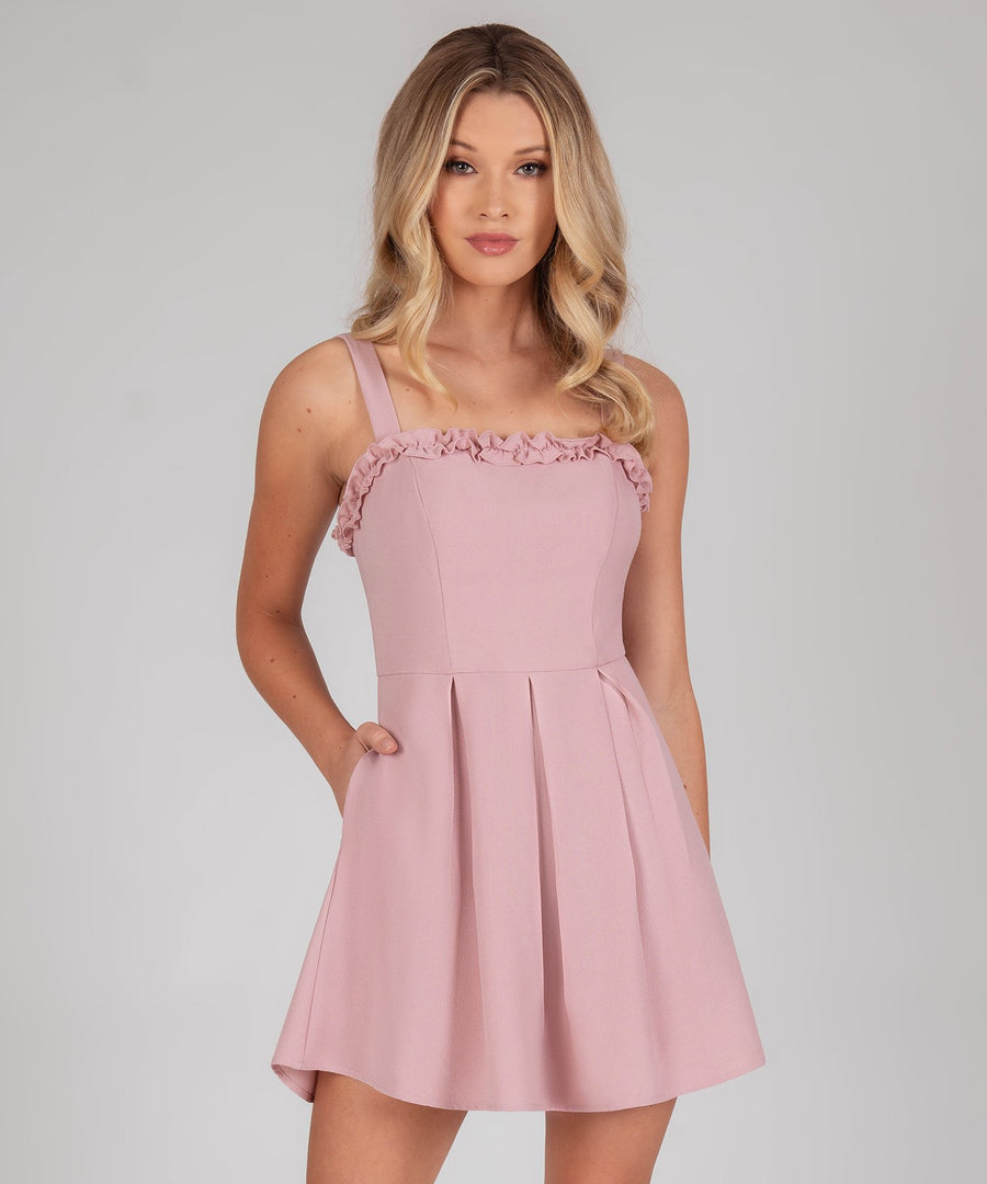 Sweet Escape Bow Back Dress-Mauve-Speechless.com
