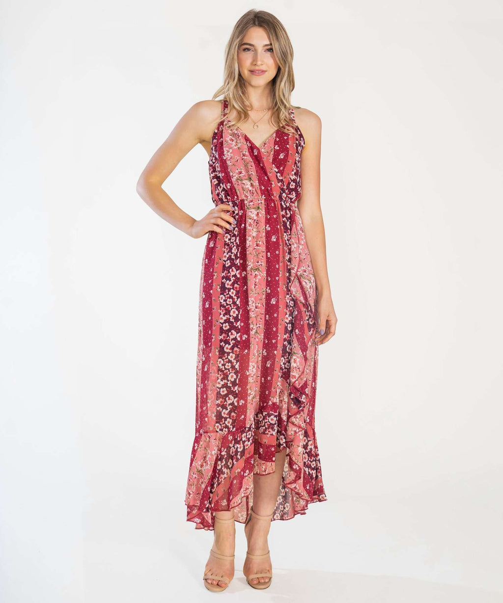 Mari Ruffle Maxi Dress-Speechless