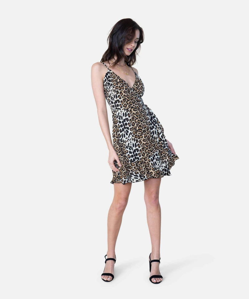 Jamie Exclusive Animal Wrap Dress-Speechless