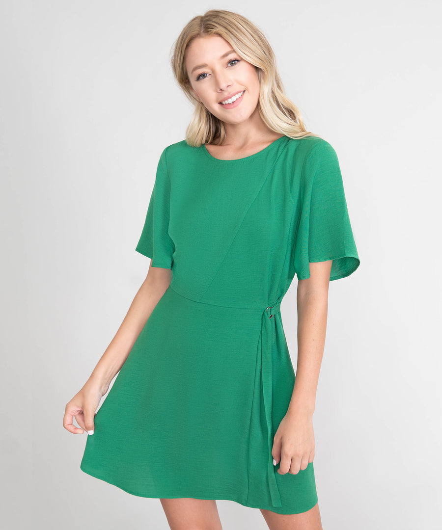 Jade Flutter Sleeve Dress-Casual Dresses-Speechless