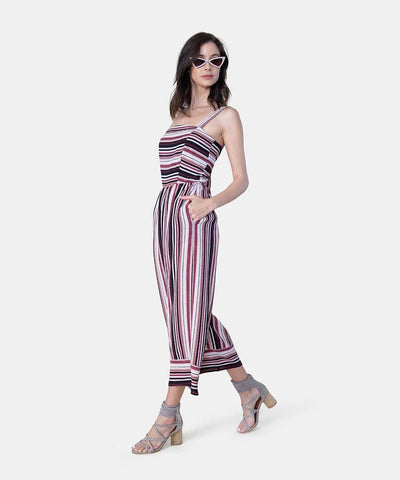 Jacey Exclusive Bow Back Jumpsuit-Jumpsuit-X SMALL-Burgundy/Black-Speechless