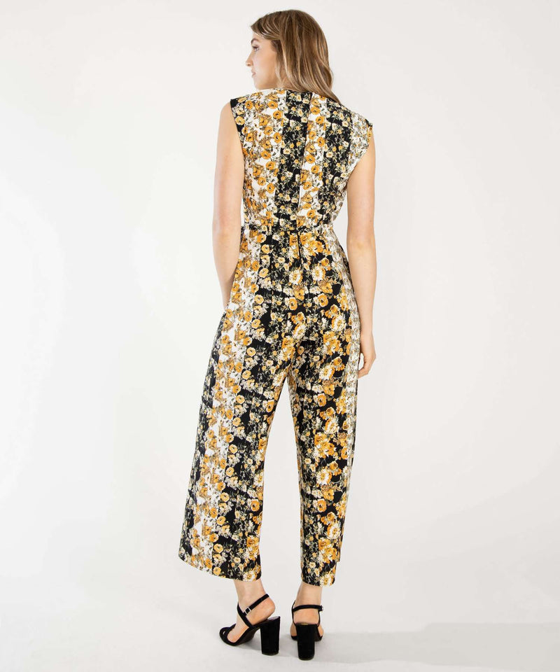 Golden Hour Printed Jumpsuit-Speechless
