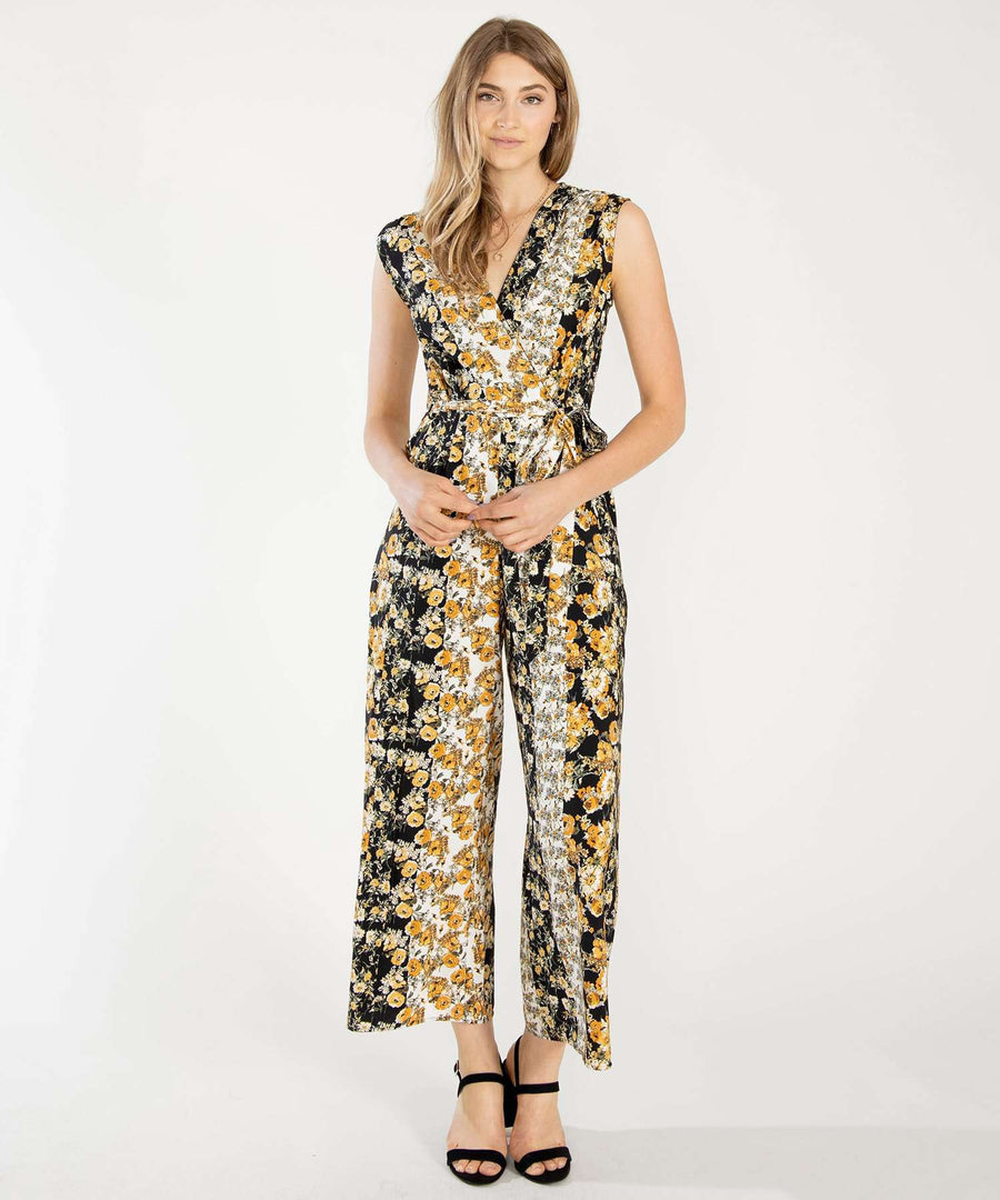 Golden Hour Printed Jumpsuit-Jumpsuit-XX SMALL-White/Goldn Yllw-Speechless