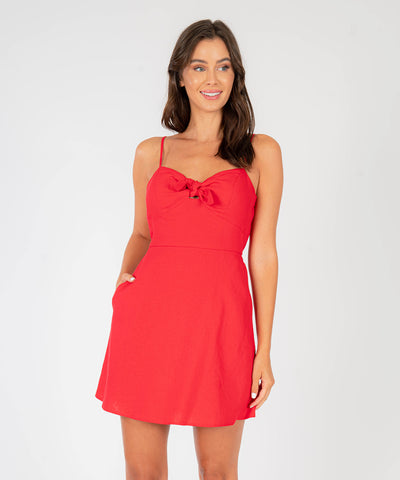 Rosa Knot Front Dress