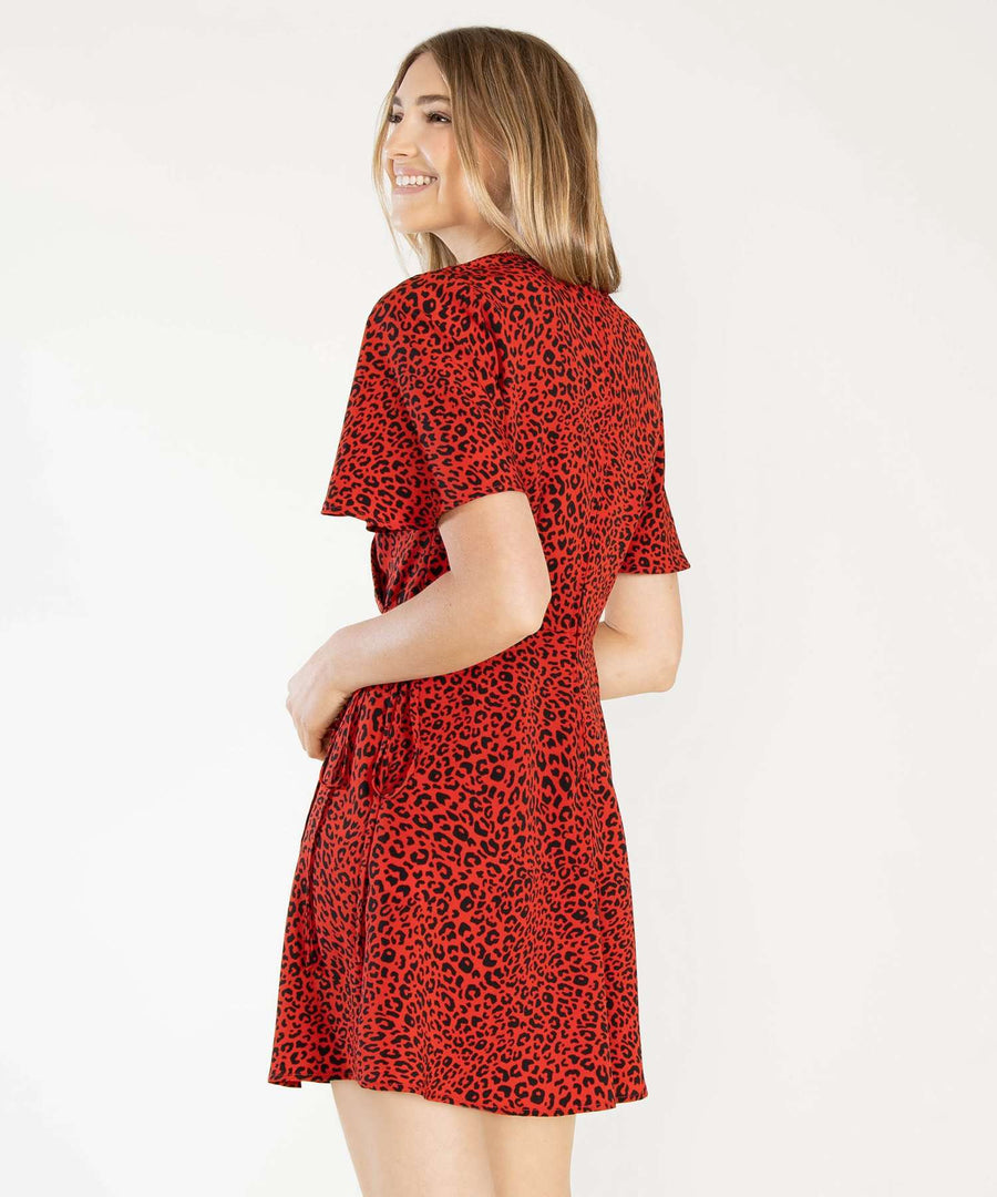 Wild Life Wrap Dress-Casual Dresses-Speechless
