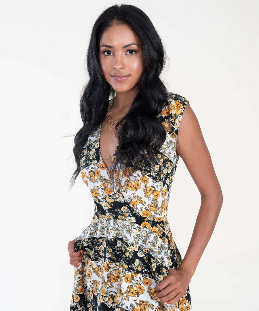 Golden Hour Printed Mini Dress-Speechless