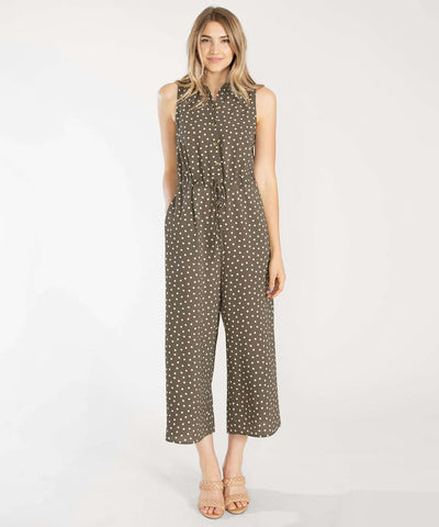 Cambrie Button Front Jumpsuit