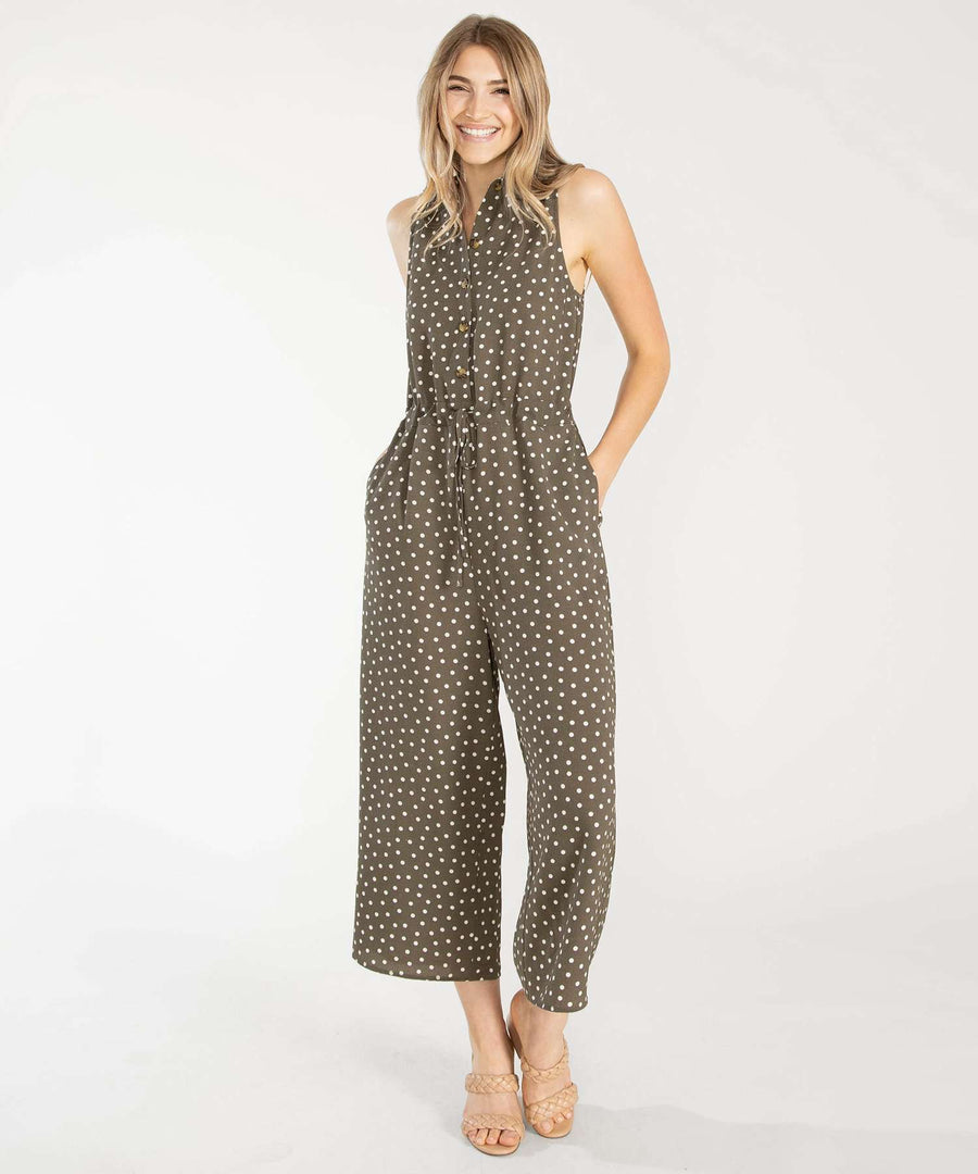 Cambrie Button Front Jumpsuit-Jumpsuit-Speechless