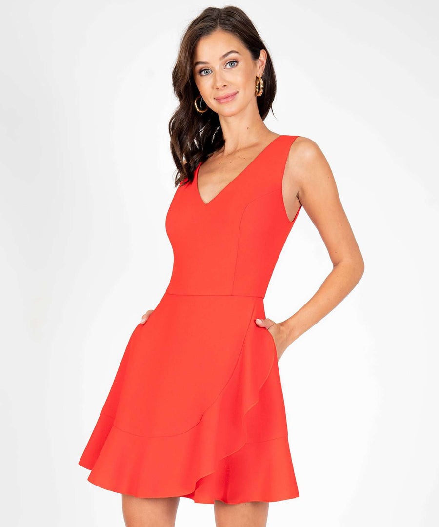 All My Love Ruffle Skater Dress-New-Speechless.com