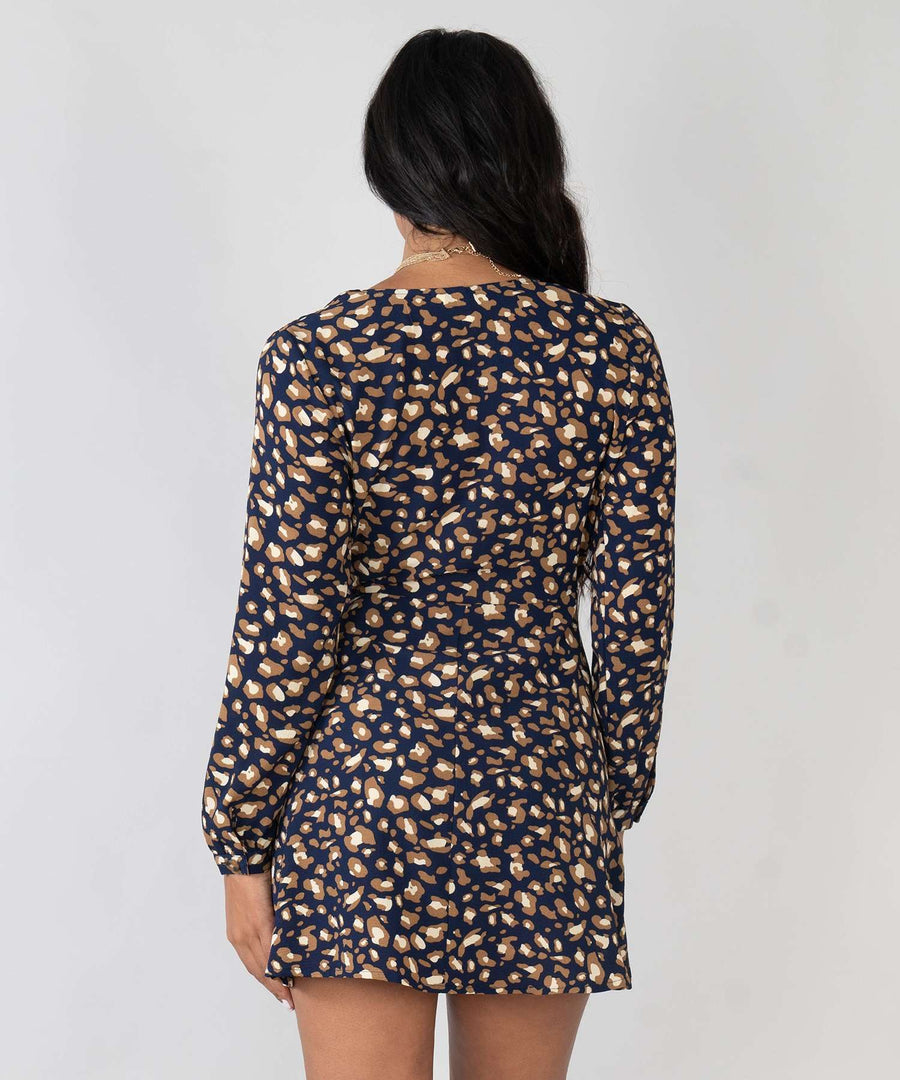 Ari Long Sleeve Wrap Dress-New-Speechless