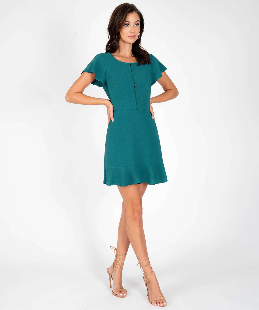Don't Flutter Yourself Ruffle Dress-New-Speechless.com