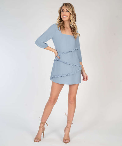 Molly Ruffle Shift Dress - Image 2