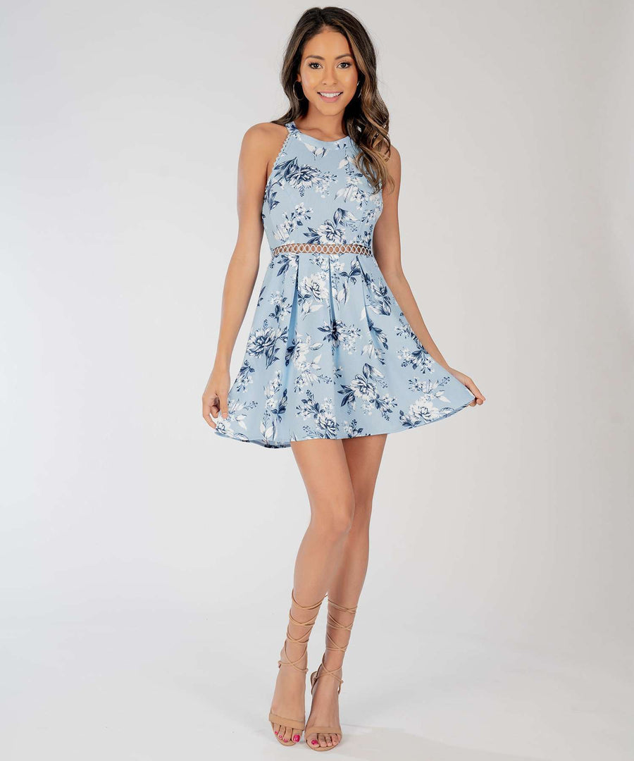 Aubrey Lace Skater Dress-Casual Dresses-Speechless.com