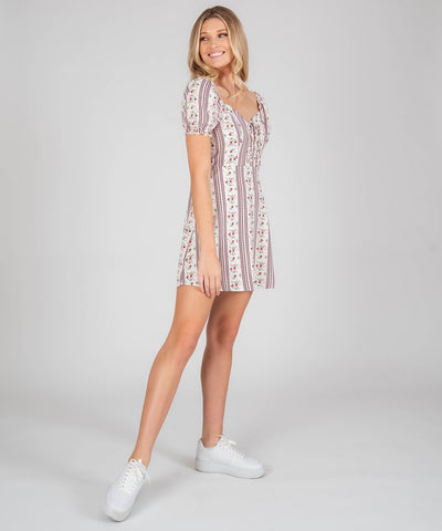 Alex Printed Puff Sleeve Dress - Image 2