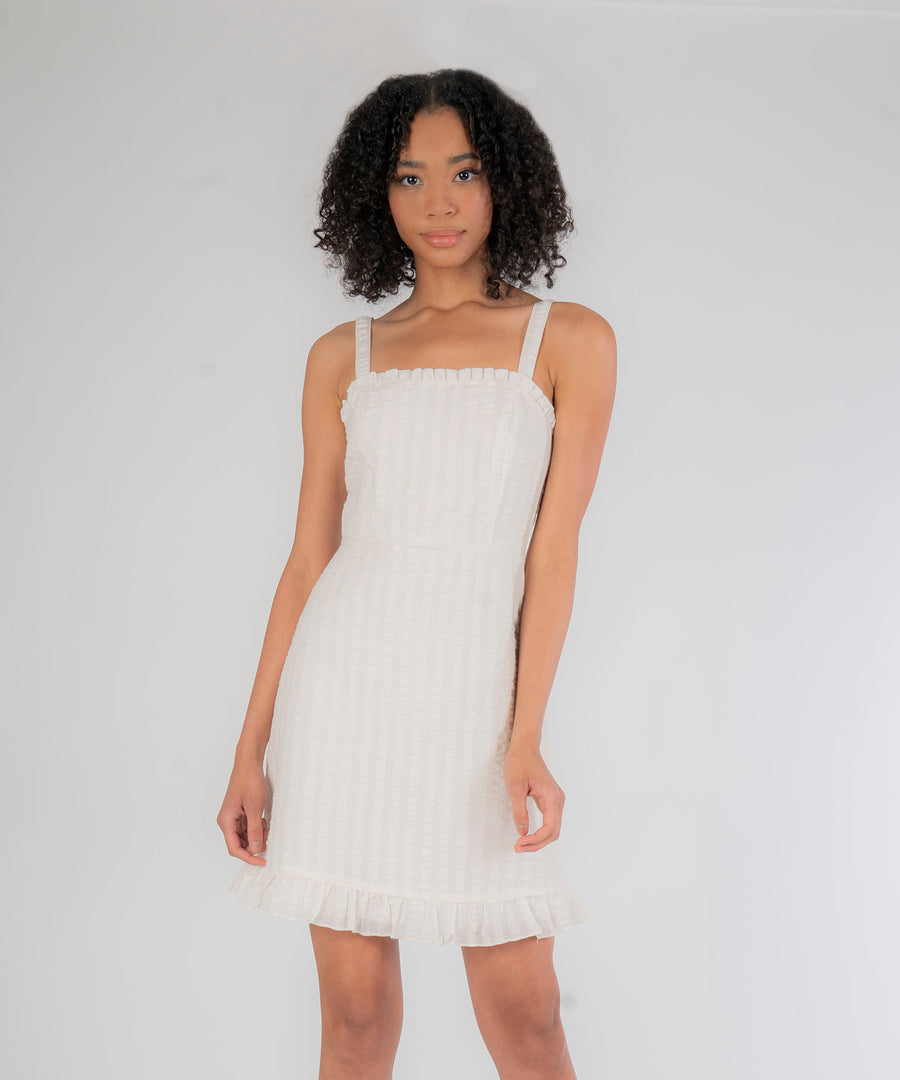 Malibu A-Line Ruffle Dress-Speechless.com