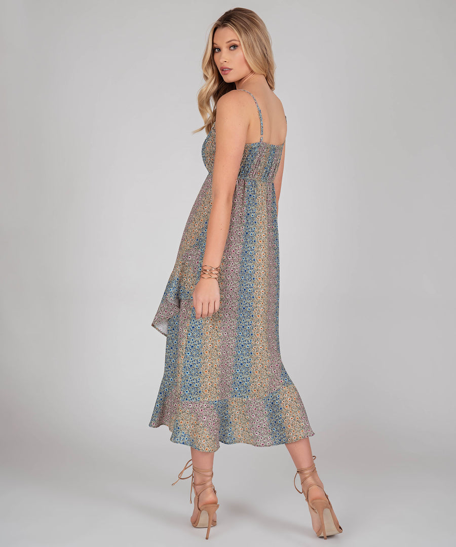 Sierra Ruffle Midi Dress-Speechless.com