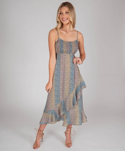 Sierra Ruffle Midi Dress
