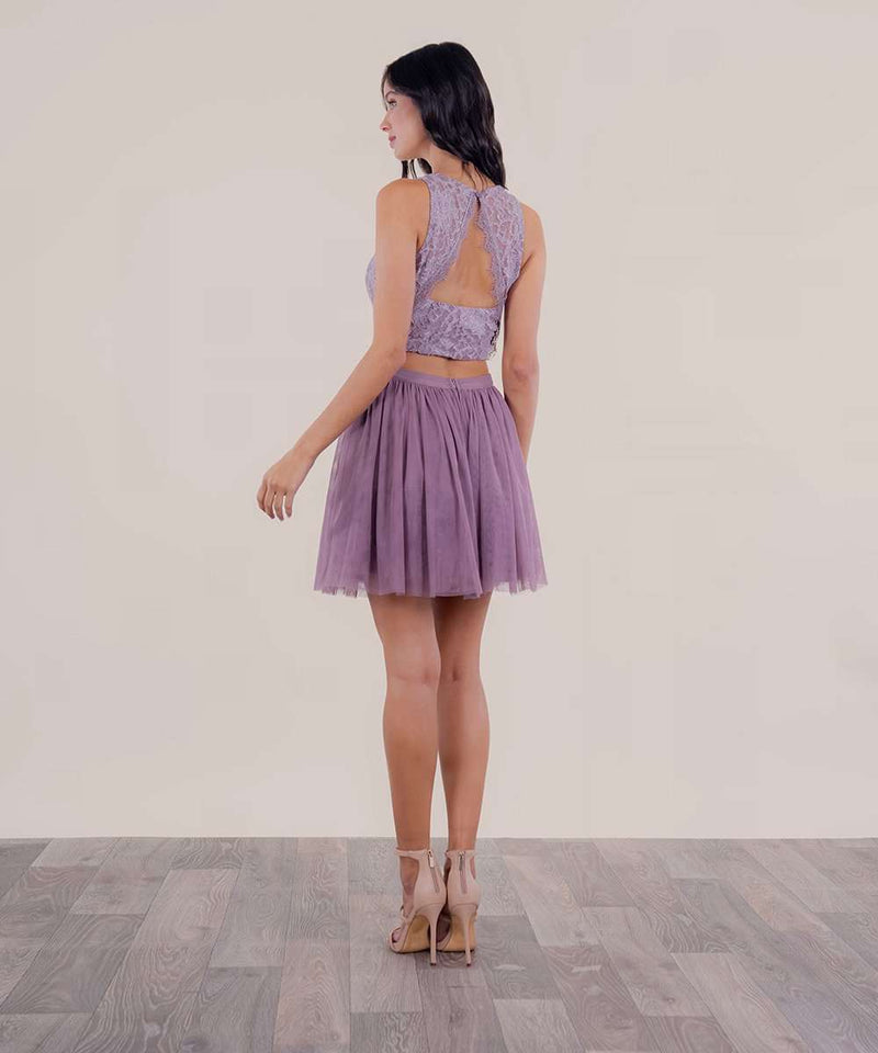 Remember Me Illusion Two-Piece Dress-Speechless