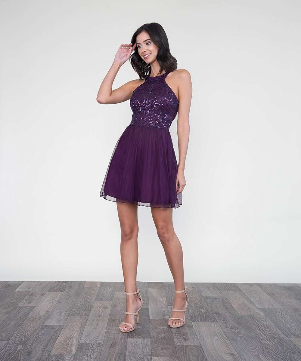 Eyes On Me Sequin Party Dress